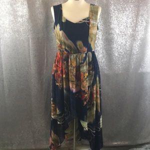 ASOS Maya deluxe floral high low dress